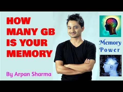How many Gigabytes (GB) is your memory? - By Memory King Arpan Sharma