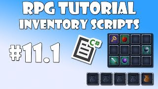 11 0 Unity RPG Tutorial - Inventory UI - PakVim net HD