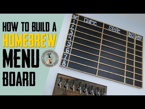 How to Build a Beer Display Board
