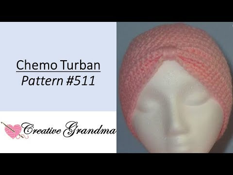 October Breast Cancer Awareness Crochet Chemo Turban # 511 FREE PATTERN