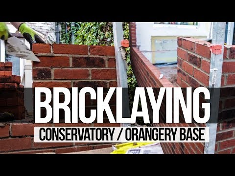 how to build conservatory base bricklaying - completed by myconservatoryroofreplacement