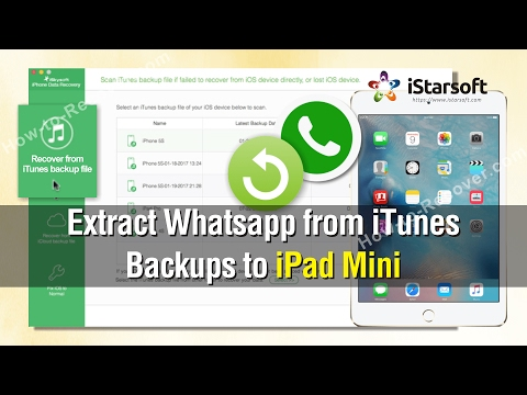 How to Extract Whatsapp from iTunes Backups to iPad Mini