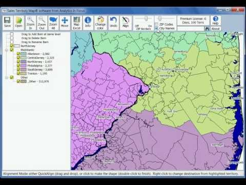 Overview of the Sales Territory Map software
