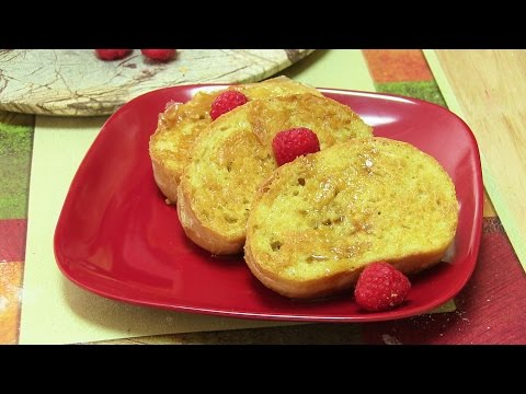 Eggless French Toast Video Recipe | Custard French Toast by Bhavna