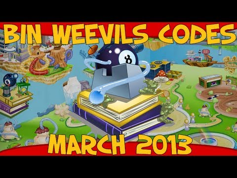 Bin Weevils - Codes for Mulch, XP, Nest Items, Graden Items and Dosh March 2013