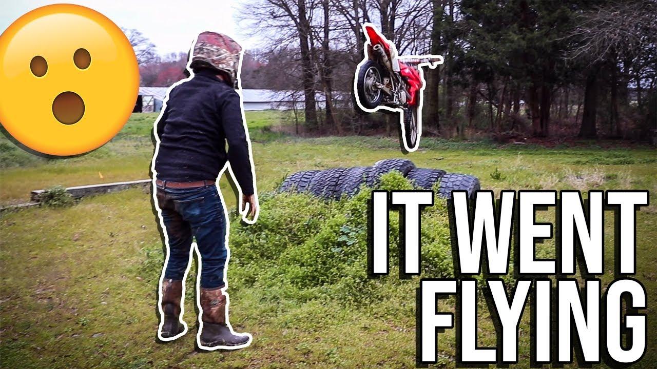 Budget Bike Goes FLYING! **Honda STRESS TEST!**