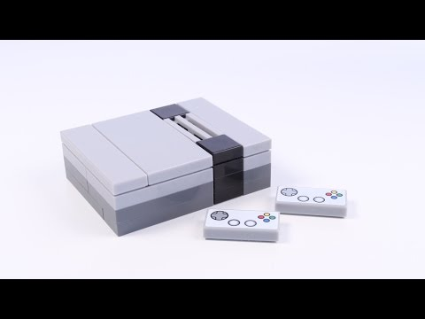 How to Build a LEGO Nintendo Game Console (NES) for Minifigs