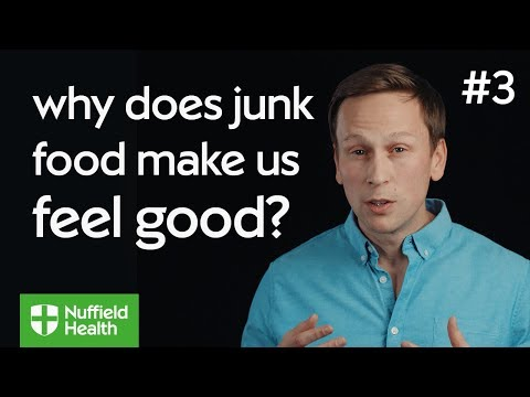 Why does eating junk food make me feel good?