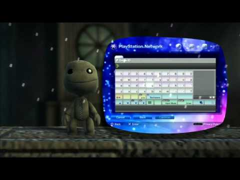 PlayStation Network Sign Up Tutorial (LittleBigPlanet 2)