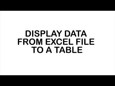 Read data from excel file to table jquery, angularjs, html5, javascript