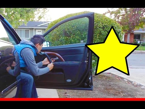 How to repair door armrest leather cover on Acura or Honda