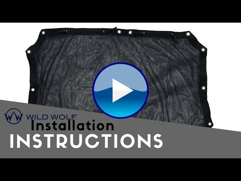 Wild Wolf Pack Jeep 2 Door Sunshade Installation Instructions