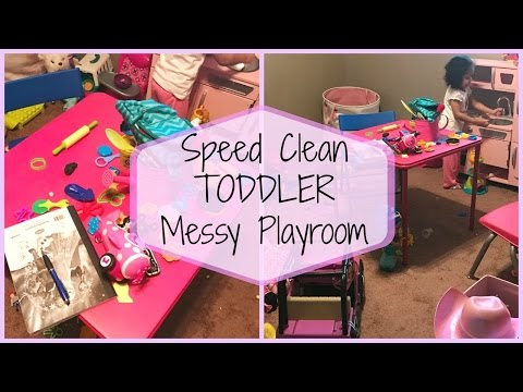 [ Speed Cleaning ]   Toddler Messy Playroom