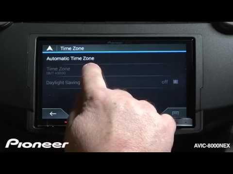 How To - AVIC-8000NEX - Set the Clock