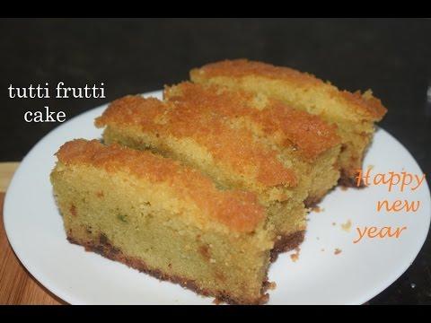 Tutti Frutti cake in pressure cooker/Fruit cake in kannada/Kids favourite plum cake recipe
