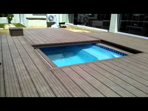 Decks4Life Composite Deck with Motorized Pool Sliding Cover