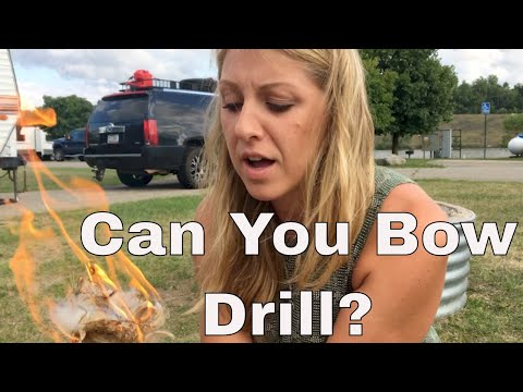 Making fire with a bow drill. Quest for survival Knowledge S1 Ep 4