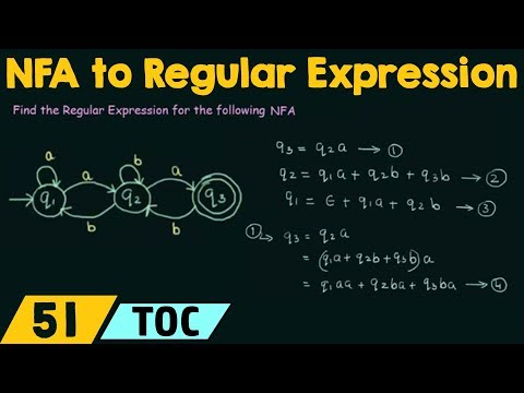 NFA to Regular Expression Conversion