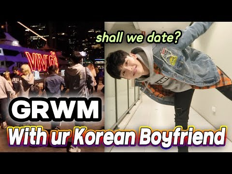 GRWM with your Korean Boyfriend! to date in VIVID festival in Sydney