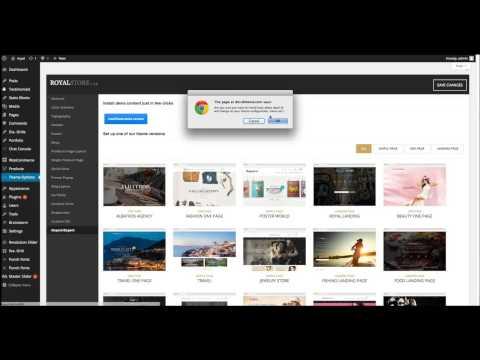 Royal WordPress theme - Demo Import
