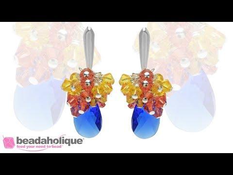 How to Make Swarovski Crystal Cluster Earrings