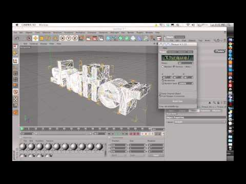 Cinema 4d Thrausi Text Tutorial - Download Link Included