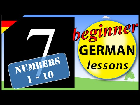Numbers 1 to 10 in German | Beginner German Lessons for Children