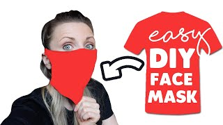 DIY Face Mask from T-SHIRT EASY  (NO SEW) | Crafty Caboodle