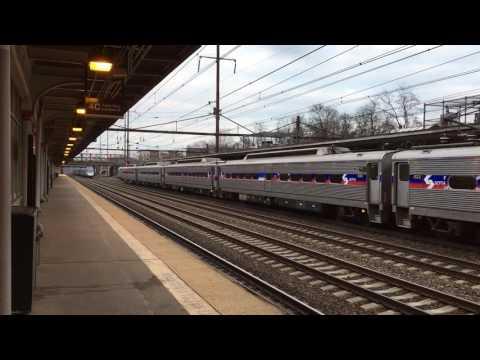 Acela overtakes Septa at Trenton
