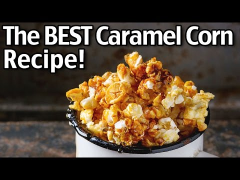 The BEST Homemade Caramel Popcorn!