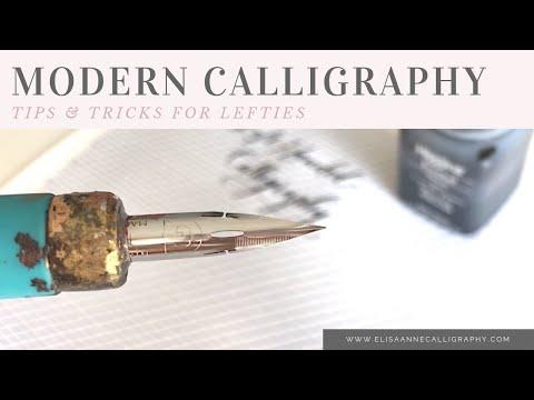 Modern Calligraphy Tips & Tricks    Left Handed
