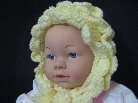 Vintage Style  Crochet Baby Bonnet