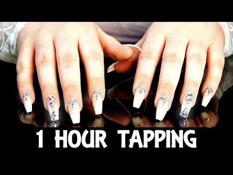 1 Hour ASMR Tapping Glamour Nails NO Talking For Sleep