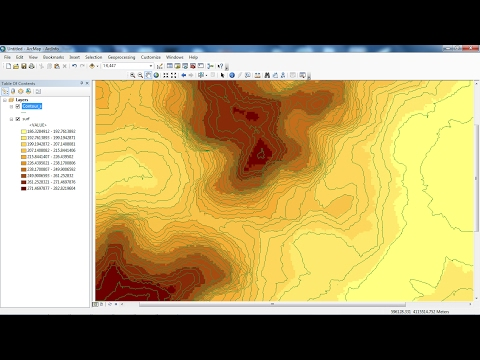 Download Contours and DEM from Google Earth