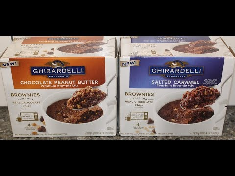 Ghirardelli Brownie Mix: Chocolate Peanut Butter & Salted Caramel (Mug Brownie) Review