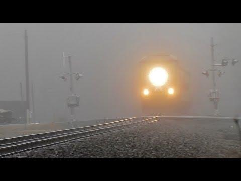 Amtrak #73 Piedmont Out of the Morning Mist - Burlington to Greensboro, NC