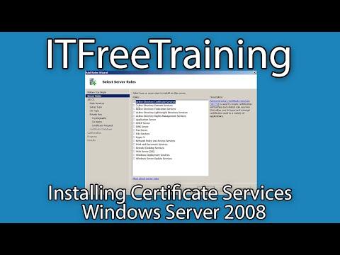 Installing Enterprise CA for AD FS on Windows Server 2008 R2