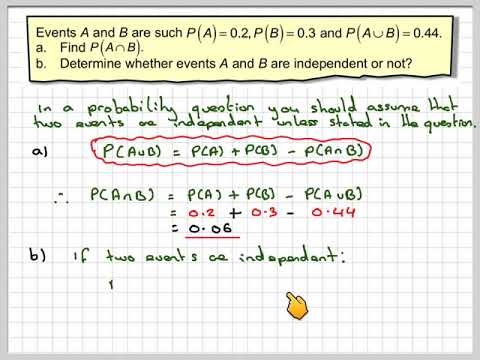 Determining if two events are independent