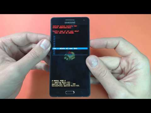 Samsung Galaxy A5 A500FU - How to remove pattern lock by hard reset