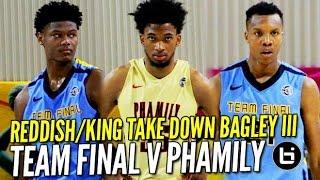 Future NBA Pros Marvin Bagley III & Cam Reddish BATTLE IT OUT! Top 5 Juniors BATTLE at Nike EYBL!!!