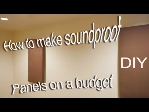 How to make soundproof wall panels cheap
