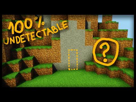 The SECRET 100% undetectable Minecraft Door! - (secret base redstone tutorial/PC-PE-CONSOLE)