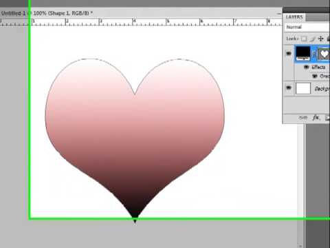 Photoshop Shape Layers with Gradients and Transparency
