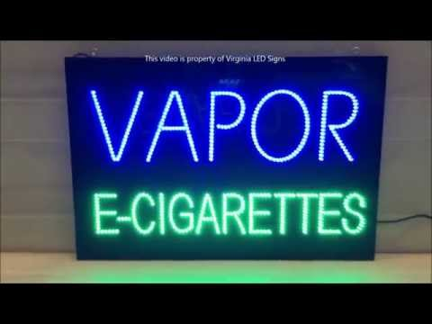 Vapor E-Cigarettes LED Sign