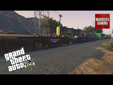 Two trains meet in GTA 5 | Over 45 different skins | 1440p 60 Fps | MaddoxxGaming