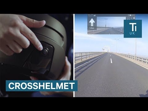 This motorbike helmet has a camera that gives the rider a 360-degree view