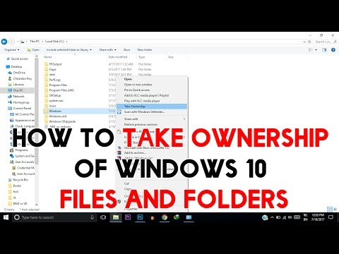 How To Copy  Paste Any Files Into System Folder | How To Take Ownership of Windows 10 Files Folders