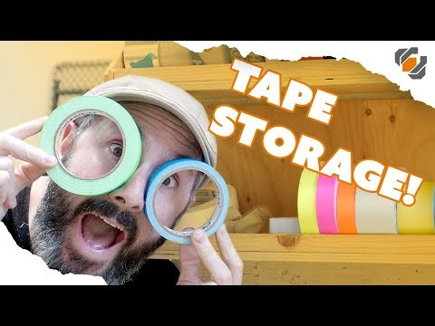 One Day Build: Adhesive Tape Rack in my Prop Shop