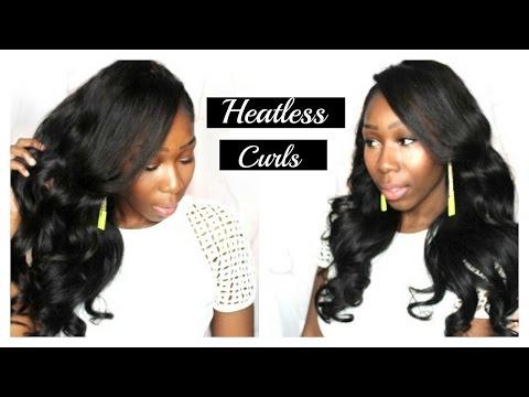 Easy Heatless Bouncy Curls Tutorial with Headband!