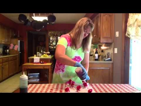 How to make Tie Dye Flower Pattern by: The Suburban Wino